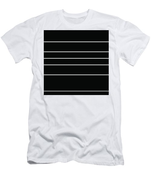 Stacked - Black And White Men's T-Shirt (Athletic Fit)