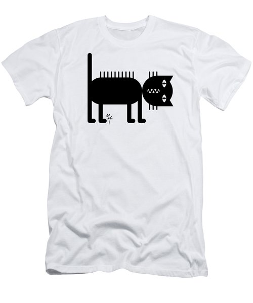 Standing Cat Men's T-Shirt (Athletic Fit)