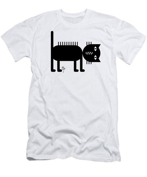 Standing Cat Men's T-Shirt (Athletic Fit)