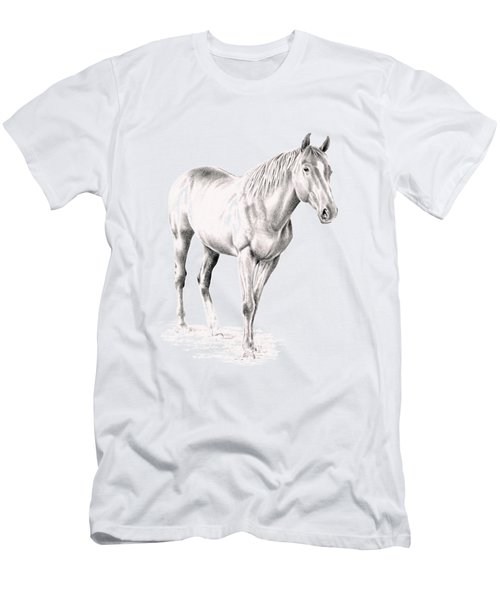 Standing Racehorse Men's T-Shirt (Athletic Fit)