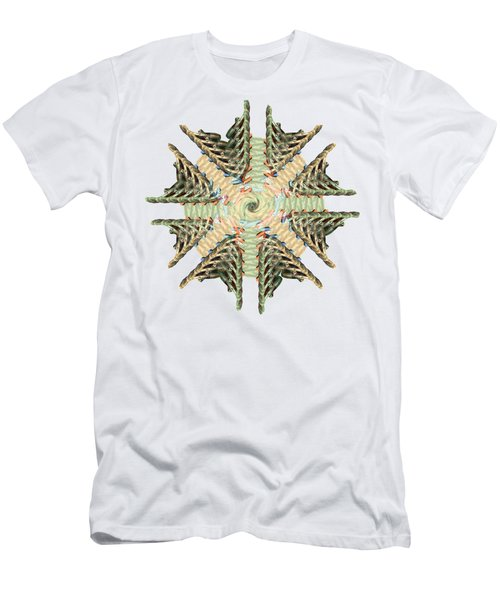 star shape lung Flower abstract art Men's T-Shirt (Athletic Fit)