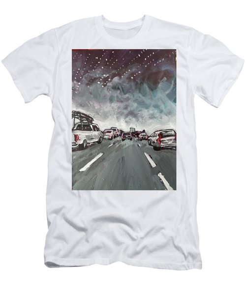 Starry Night Traffic Men's T-Shirt (Athletic Fit)