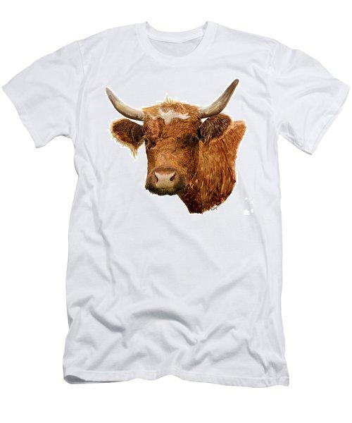 Steer Portrait - Barnyard Bunch Collection Men's T-Shirt (Athletic Fit)