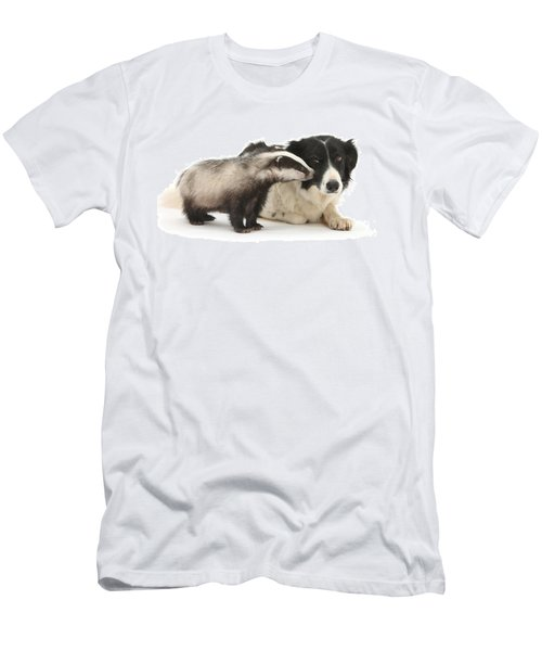 Men's T-Shirt (Athletic Fit) featuring the photograph Stop Badgering Me by Warren Photographic