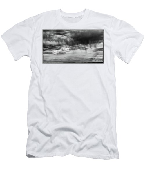 Stormy Sky In Black And White Men's T-Shirt (Athletic Fit)