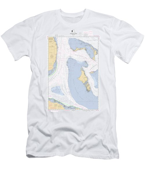 Straits Of Florida, Eastern Part Noaa Nautical Chart Men's T-Shirt (Athletic Fit)