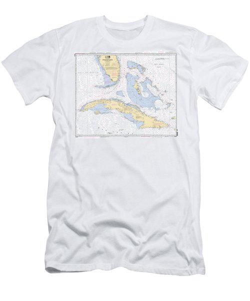 Straits Of Florida Nautical Chart Men's T-Shirt (Athletic Fit)