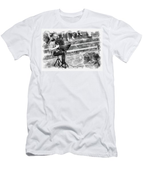 Street Musician In Florence Men's T-Shirt (Athletic Fit)