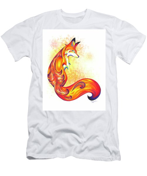 Stylized Fox I Men's T-Shirt (Athletic Fit)