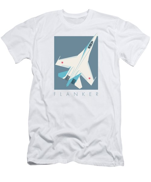 Su-27 Flanker Fighter Jet Aircraft - Slate Men's T-Shirt (Athletic Fit)