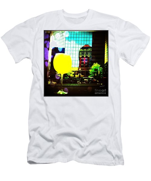 Men's T-Shirt (Athletic Fit) featuring the mixed media Summertime Downtown Lexington  by Rachel Maynard