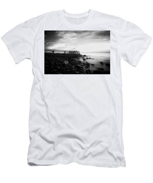 Sunrise In Black And White Men's T-Shirt (Athletic Fit)
