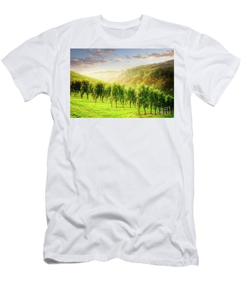 Men's T-Shirt (Athletic Fit) featuring the photograph Sunrise Over Styria by Scott Kemper