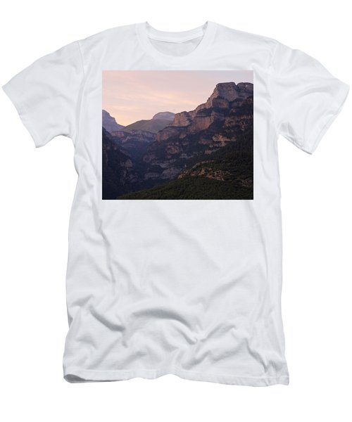Men's T-Shirt (Athletic Fit) featuring the photograph Sunset In The Anisclo Valley by Stephen Taylor