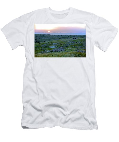 Sunset Over Um A-shekef, Israel Men's T-Shirt (Athletic Fit)