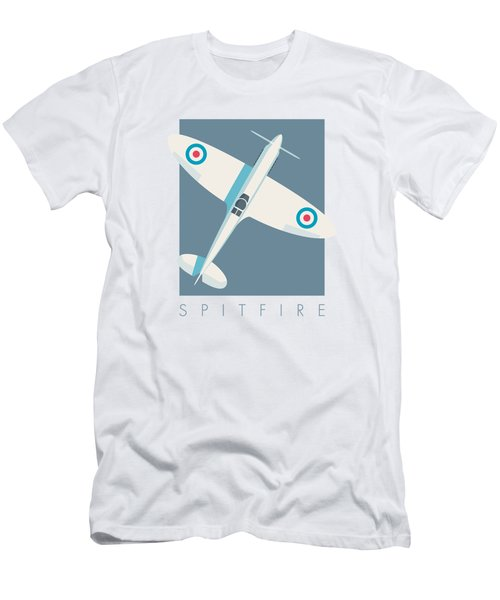 Supermarine Spitfire Wwii Fighter Aircraft - Slate Men's T-Shirt (Athletic Fit)