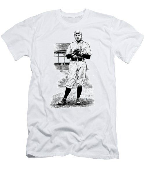 Men's T-Shirt (Athletic Fit) featuring the drawing Take Me Out To The Ballgame by Clint Hansen
