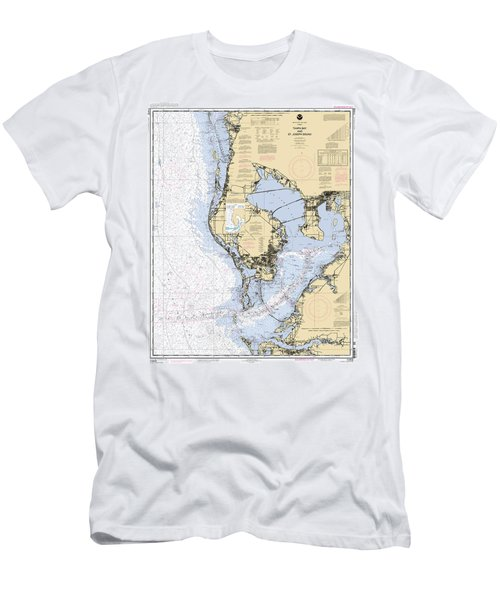 Tampa Bay And St. Joseph Sound Noaa Chart 11412 Men's T-Shirt (Athletic Fit)