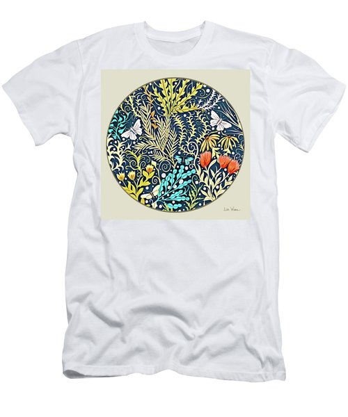 Tapestry Design Button Men's T-Shirt (Athletic Fit)