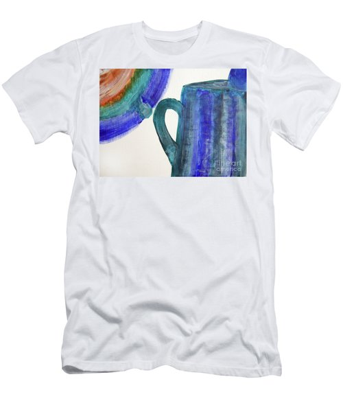 Tea Time-mixed Media Art Men's T-Shirt (Athletic Fit)