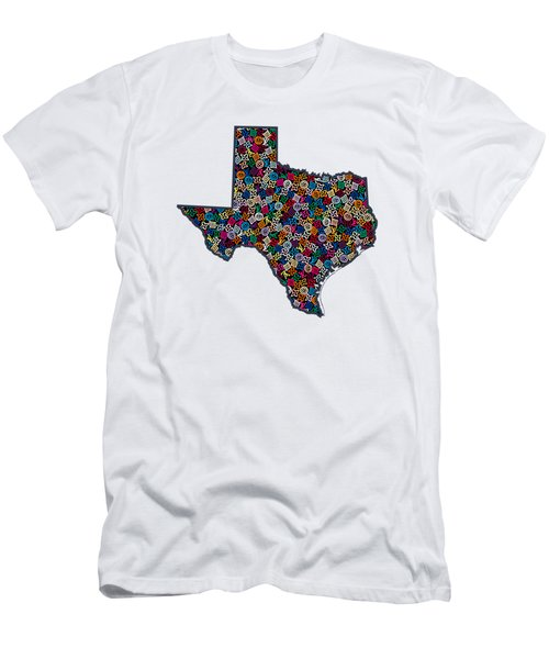 Texas Map - 1 Men's T-Shirt (Athletic Fit)