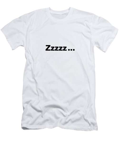 Text Zzzzz  On A Product -  Dth312 Men's T-Shirt (Athletic Fit)