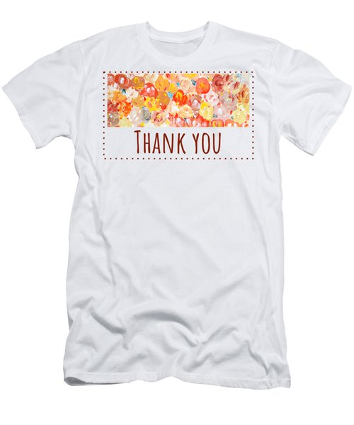Men's T-Shirt (Athletic Fit) featuring the painting Thank You #2 by Maria Langgle