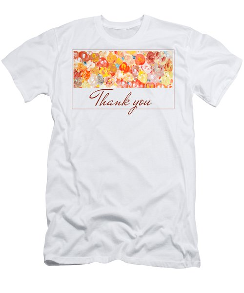 Men's T-Shirt (Athletic Fit) featuring the painting Thank You #3 by Maria Langgle