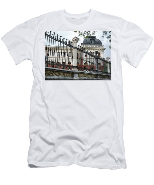 The Back Of The Ministry Of Agriculture Building In Madrid Men's T-Shirt (Athletic Fit)