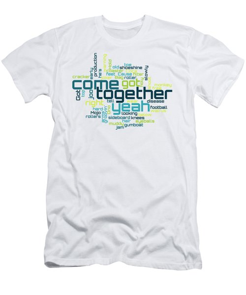 The Beatles - Come Together Lyrical Cloud Men's T-Shirt (Athletic Fit)
