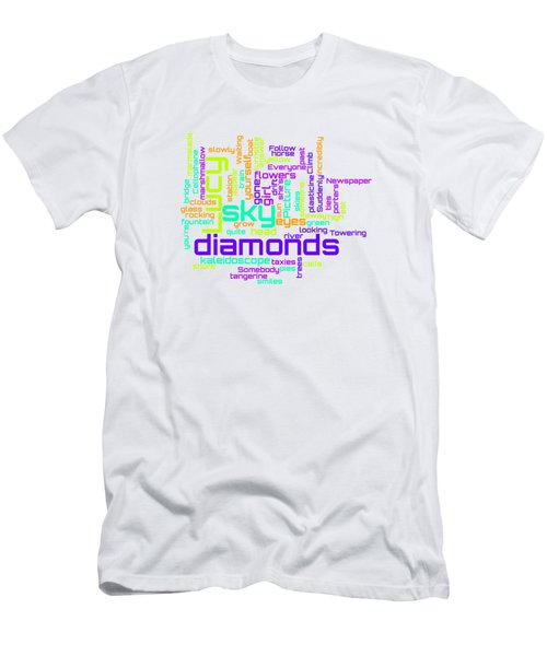 The Beatles - Lucy In The Sky With Diamonds Lyrical Cloud Men's T-Shirt (Athletic Fit)