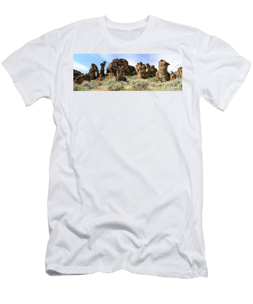 Arches Hoodoos And Castles The Big Picture Little City Of Rocks Men's T-Shirt (Athletic Fit)