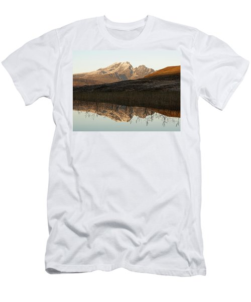 Men's T-Shirt (Athletic Fit) featuring the photograph The First Hint Of Winter At Loch Cill Chriosd by Stephen Taylor