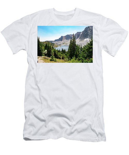 The Lakes Of Medicine Bow Peak Men's T-Shirt (Athletic Fit)