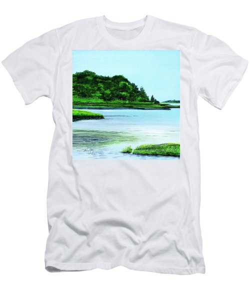 The Little River Gloucester, Ma Men's T-Shirt (Athletic Fit)