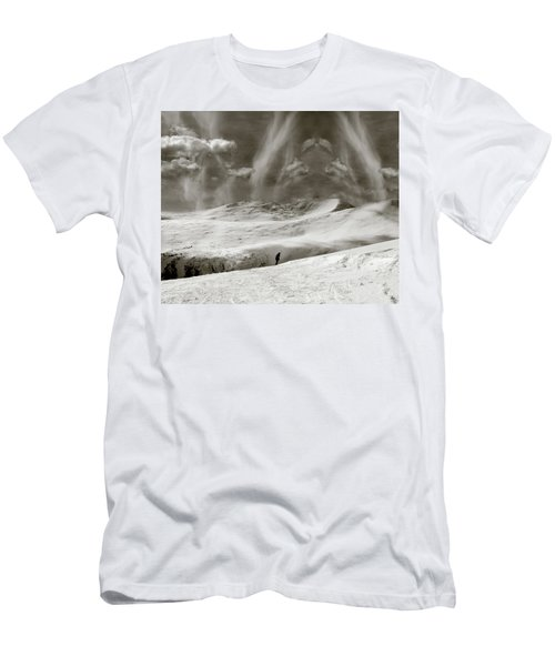 Men's T-Shirt (Athletic Fit) featuring the photograph The Lone Boarder - Duochrome by Wayne King