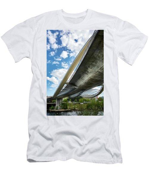 The Millennium Bridge From Below Men's T-Shirt (Athletic Fit)