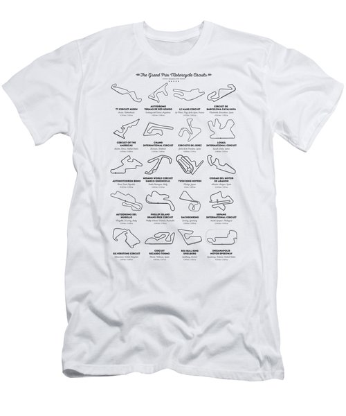 The Motogp Circuits Men's T-Shirt (Athletic Fit)