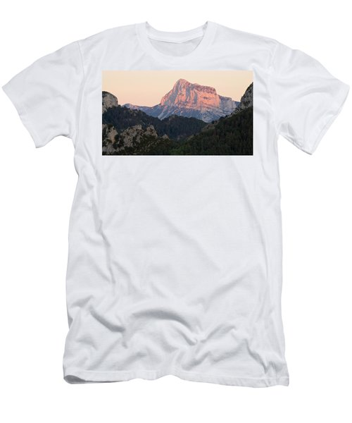Men's T-Shirt (Athletic Fit) featuring the photograph The Pena Montanesa by Stephen Taylor