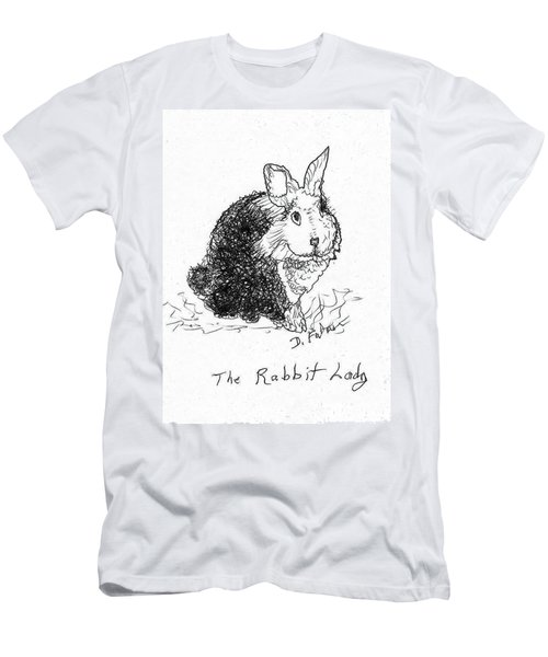 The Rabbit Lady Drawing Men's T-Shirt (Athletic Fit)