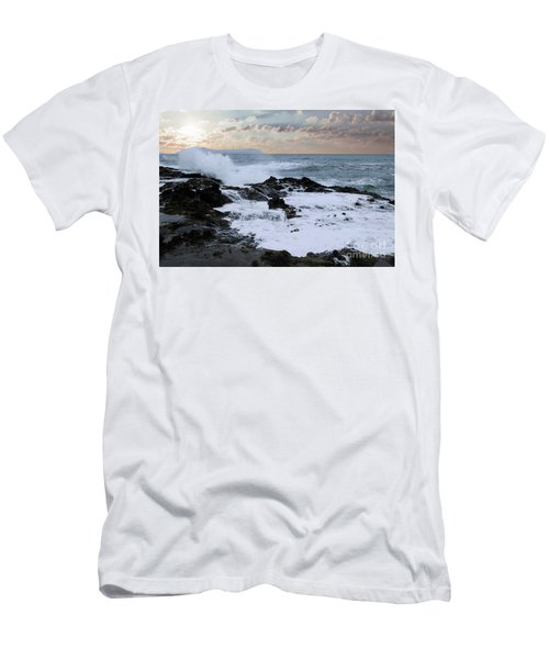 The Rage The Waves And The Rocks Men's T-Shirt (Athletic Fit)
