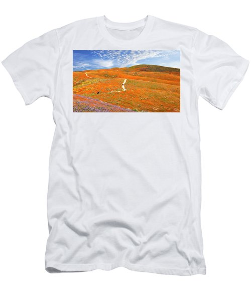 The Trail Through The Poppies Men's T-Shirt (Athletic Fit)