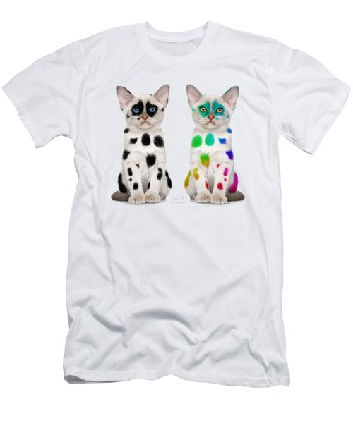 The Twins Dalmatian Cats Men's T-Shirt (Athletic Fit)