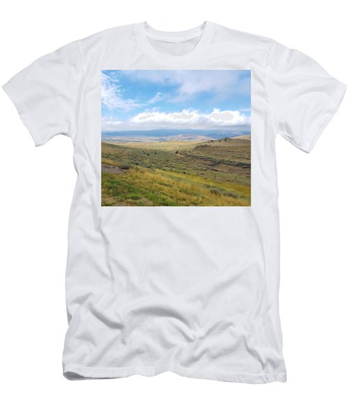Men's T-Shirt (Athletic Fit) featuring the photograph Montana Viewwwww by Deahn      Benware