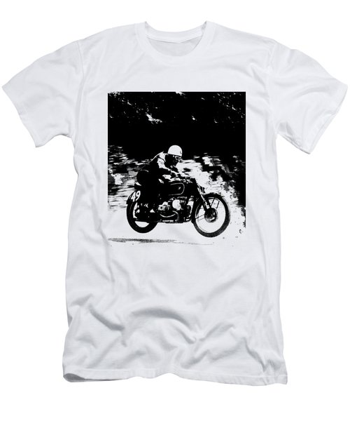 The Vintage Motorcycle Racer Men's T-Shirt (Athletic Fit)