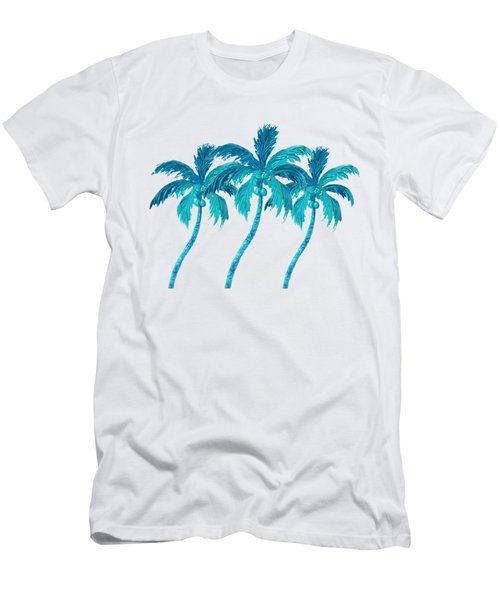 Three Coconut Palm Trees Men's T-Shirt (Athletic Fit)