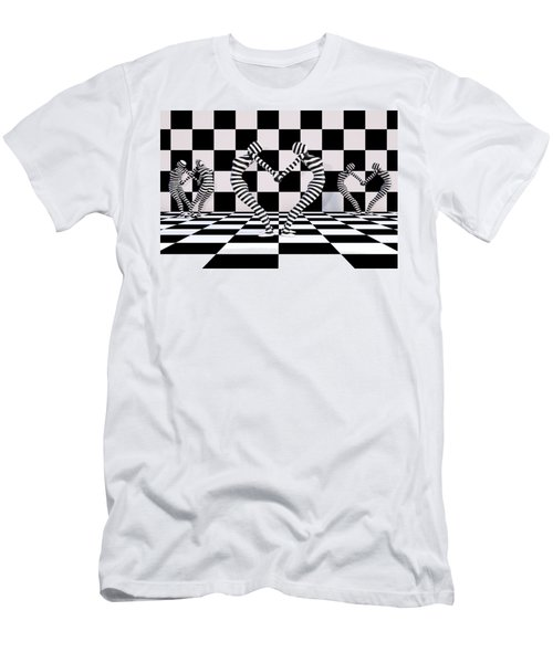 Three Of Hearts Men's T-Shirt (Athletic Fit)