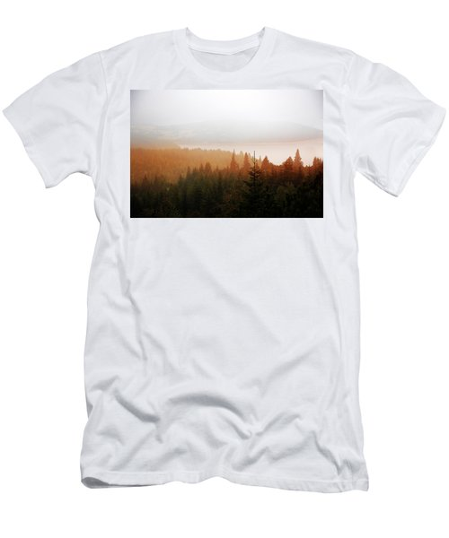 Men's T-Shirt (Athletic Fit) featuring the photograph Through The Mist by Milena Ilieva
