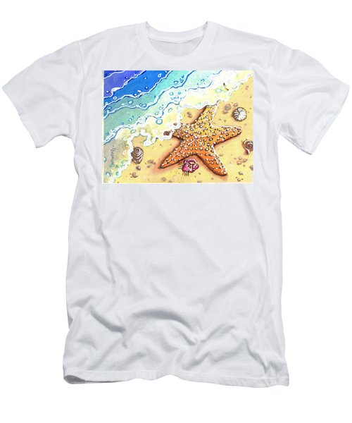 Tidal Beach Starfish Men's T-Shirt (Athletic Fit)
