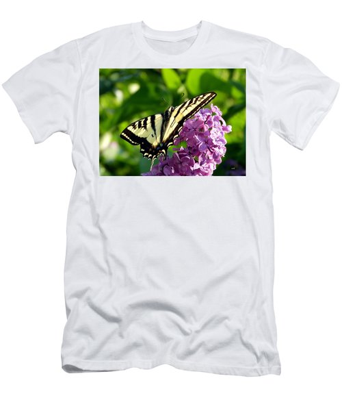 Tiger Swallowtail On A Lilac Men's T-Shirt (Athletic Fit)